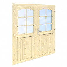 Divviru durvis ar stiklu 151x175 (28mm)