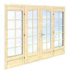 Durvis ar stikla vitrīnām 239 x 194 (44mm)