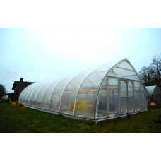 Wooden ark-formed greenhouse 7 x 20m