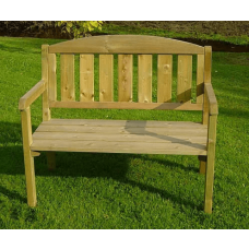 Wooden garden chair for two people
