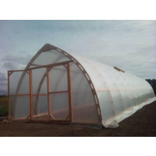 Wooden ark-formed greenhouse 4.5x11.8m