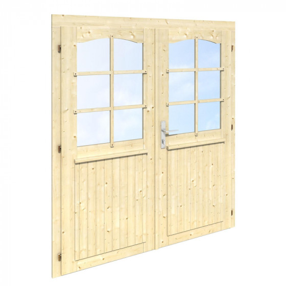 Divviru durvis ar stiklu 151x175
