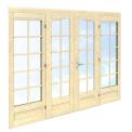 Durvis ar stikla vitrīnām 239 x 194