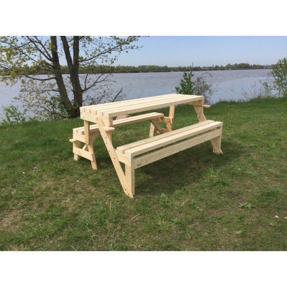 Комплект 2в1 - стол и скамейки! 150см